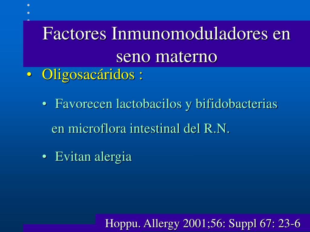Factores Inmunomoduladores en seno materno