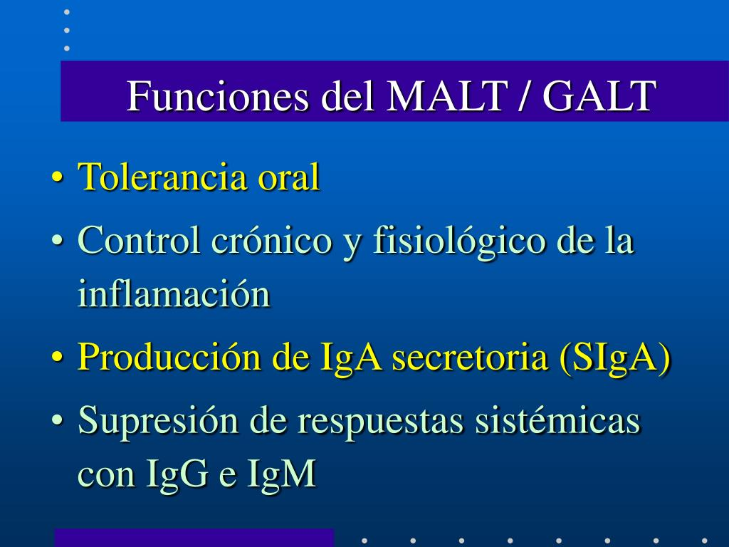Funciones del MALT / GALT