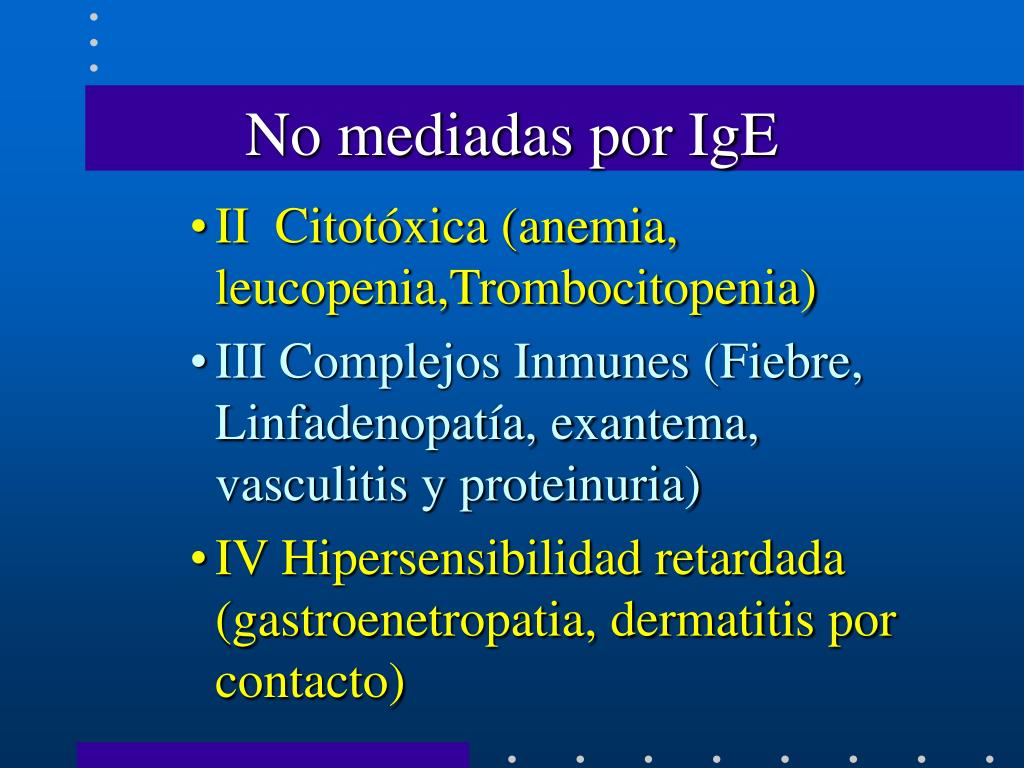 No mediadas por IgE