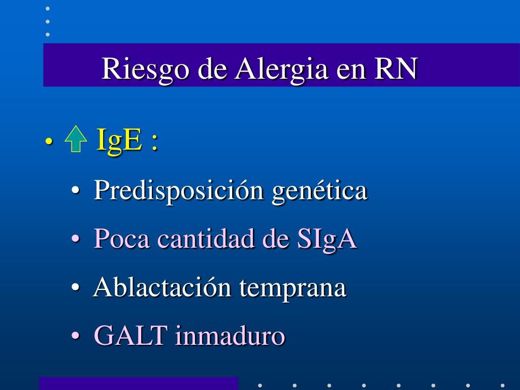 Riesgo de Alergia en RN