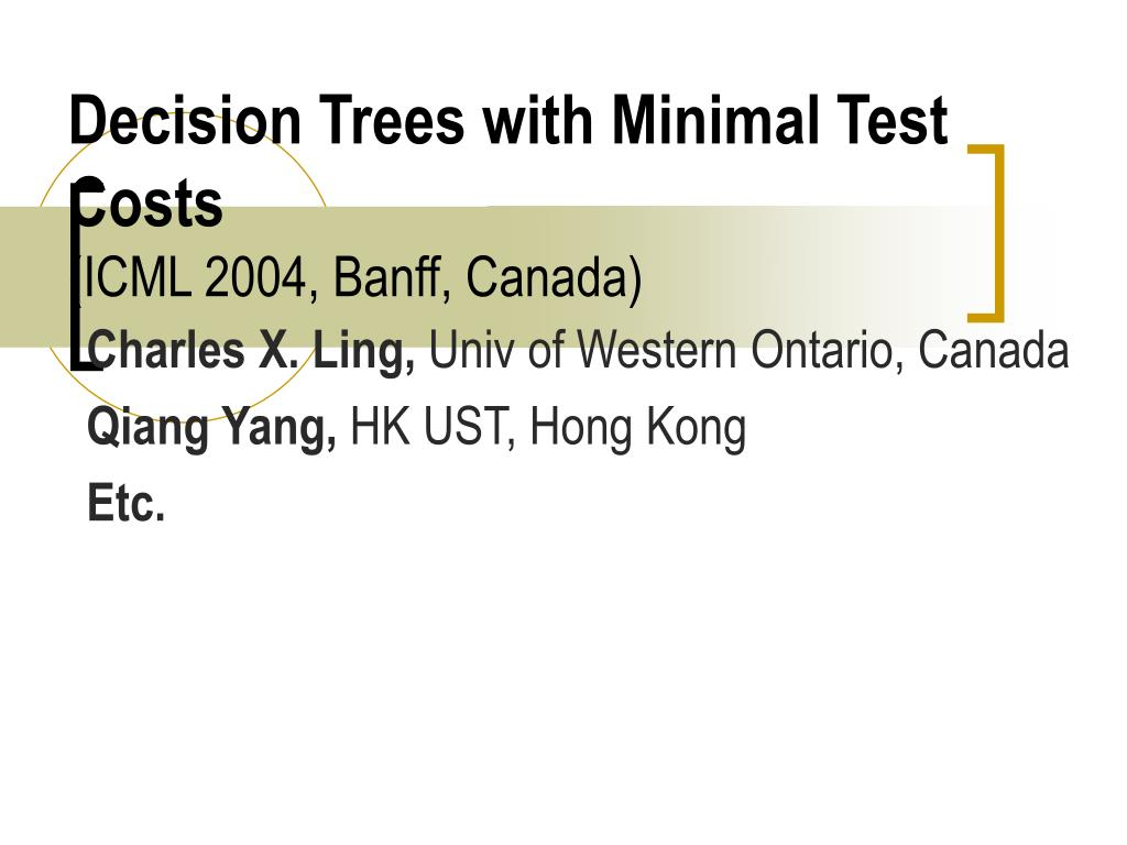 Decision Trees with Minimal Test Costs