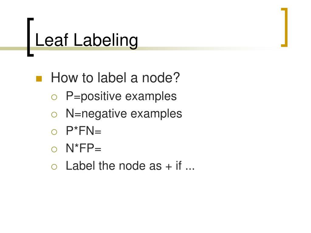 Leaf Labeling