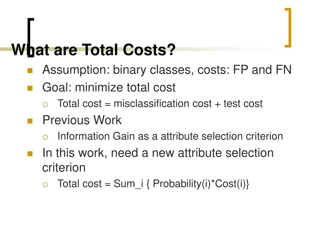 What are Total Costs?