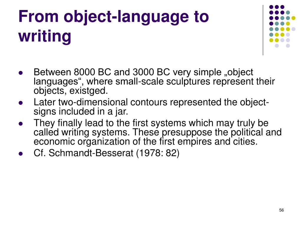 From object-language to writing