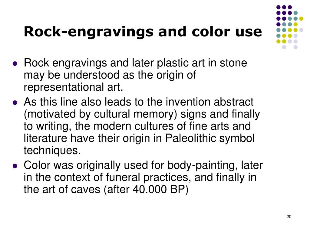 Rock-engravings and color use