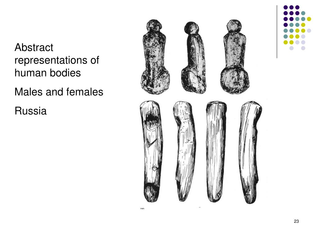 Abstract representations of human bodies