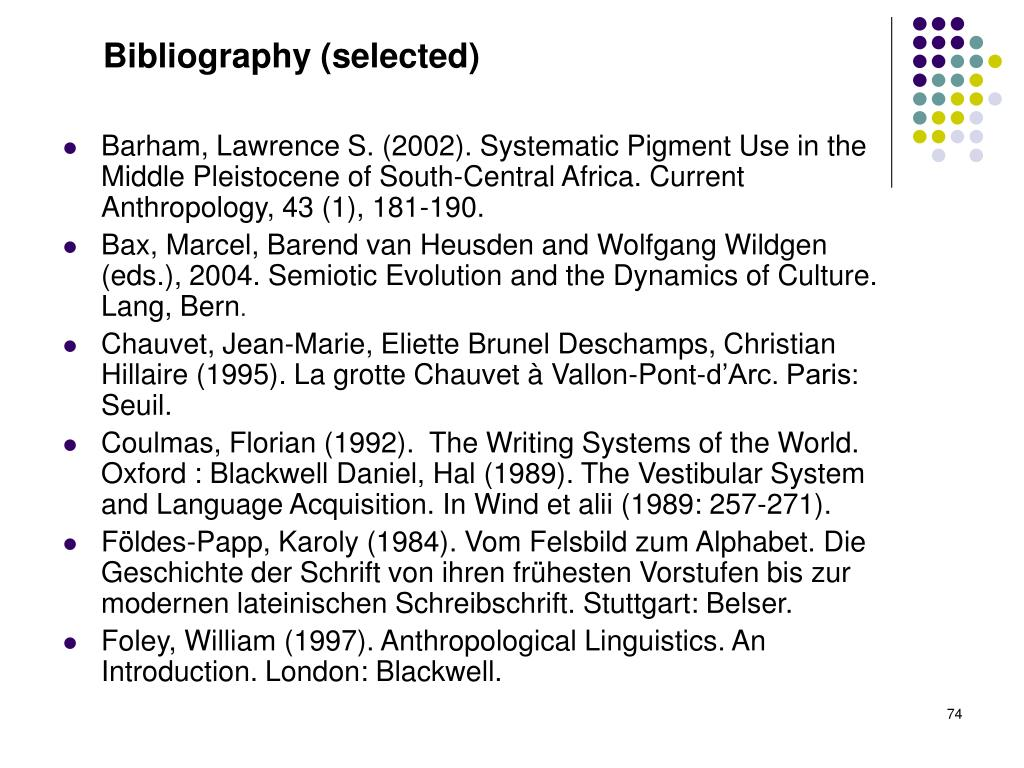 Bibliography (selected)