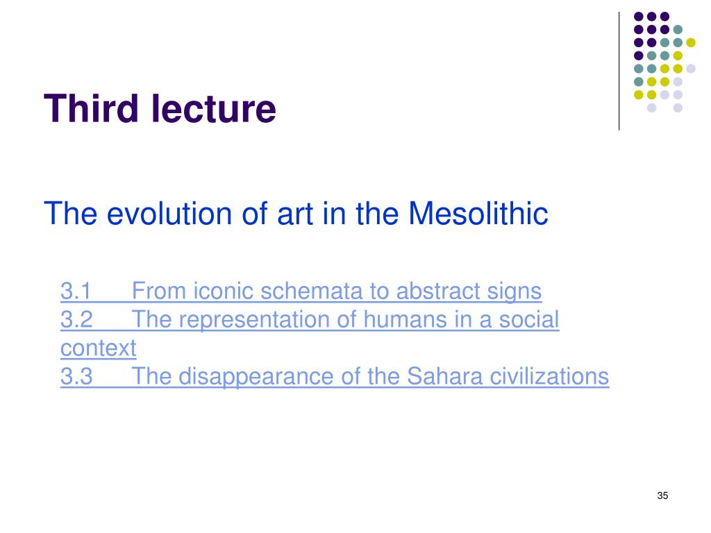 Third lecture