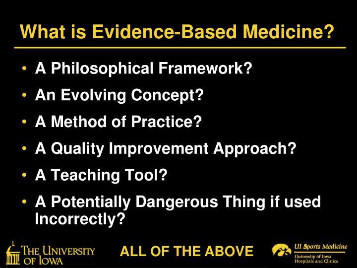 What is evidence based medicine l.jpg