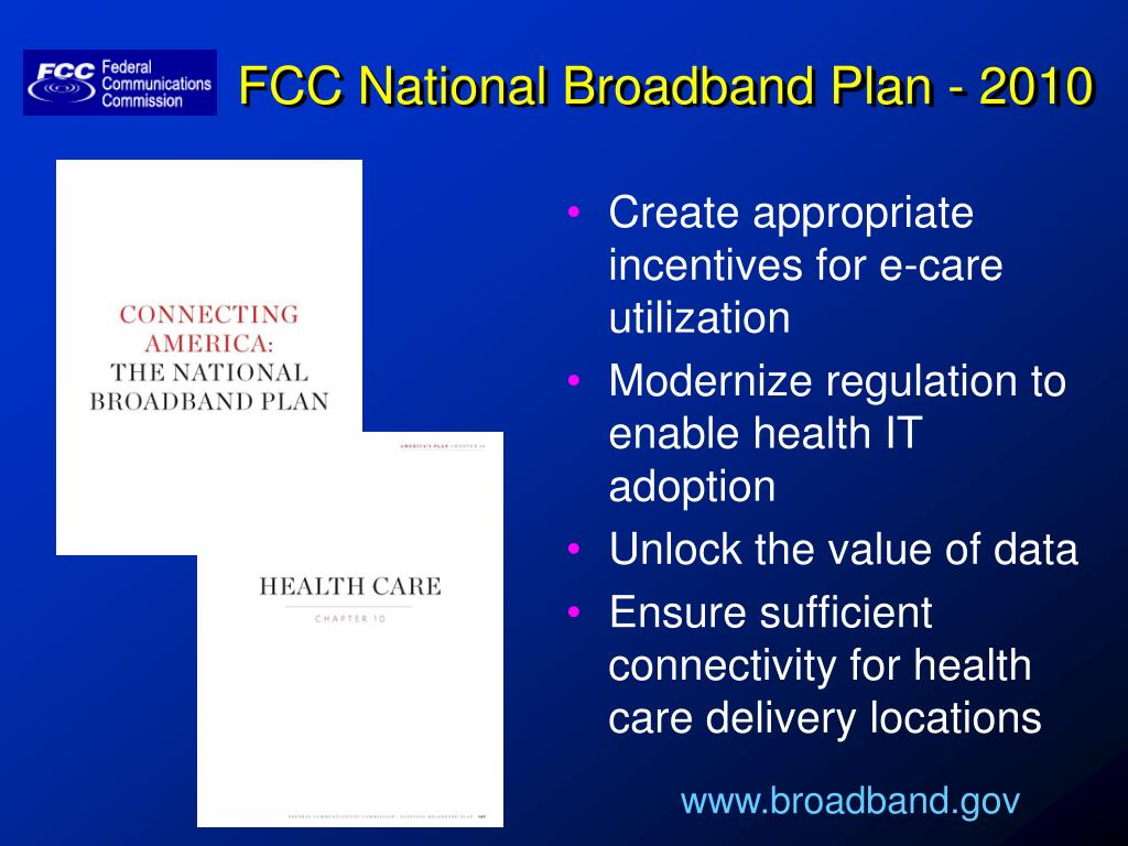 FCC National Broadband Plan - 2010