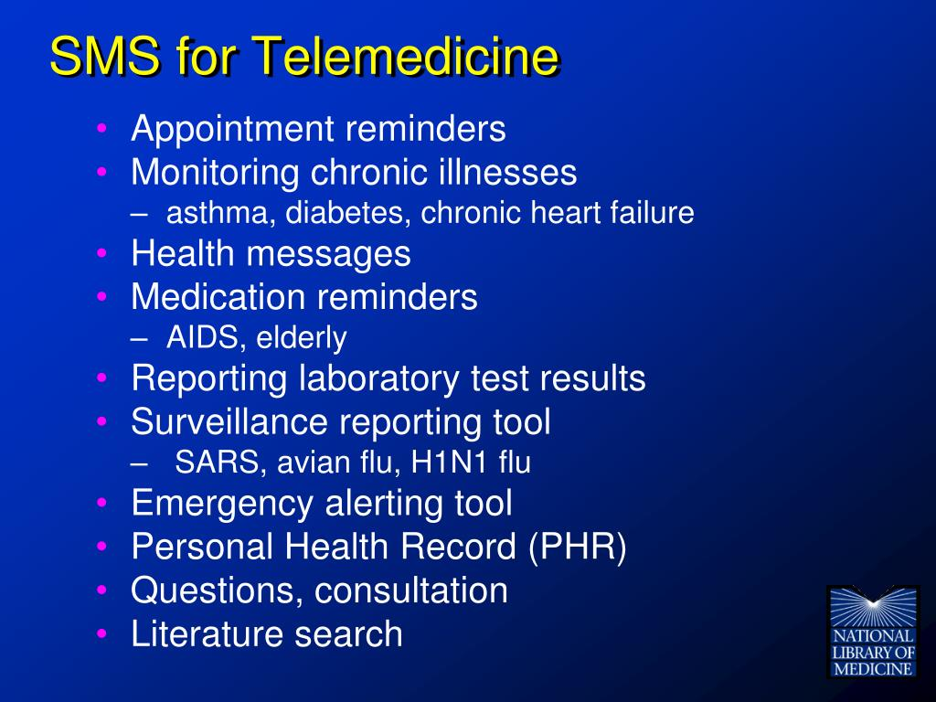 SMS for Telemedicine