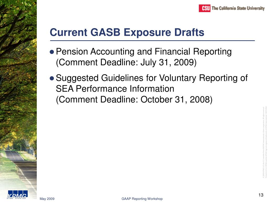 Current GASB Exposure Drafts