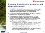 exposure draft pension accounting and financial reporting