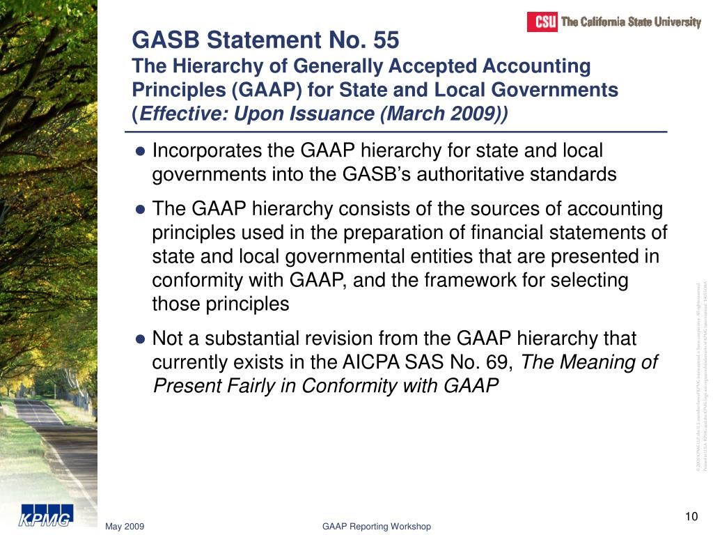 GASB Statement No. 55