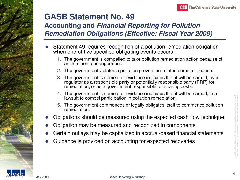 GASB Statement No. 49