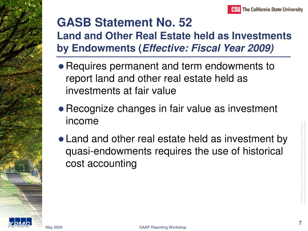 GASB Statement No. 52