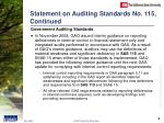 statement on auditing standards no 115 continued
