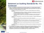 statement on auditing standards no 115 continued19