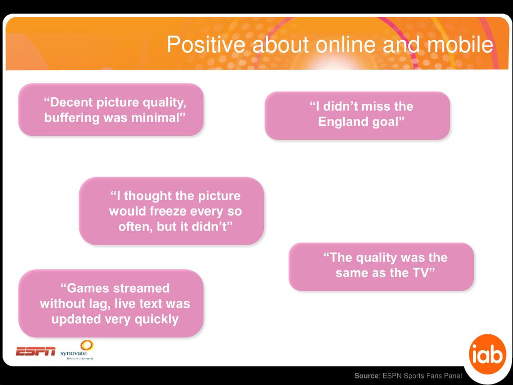 Positive about online and mobile