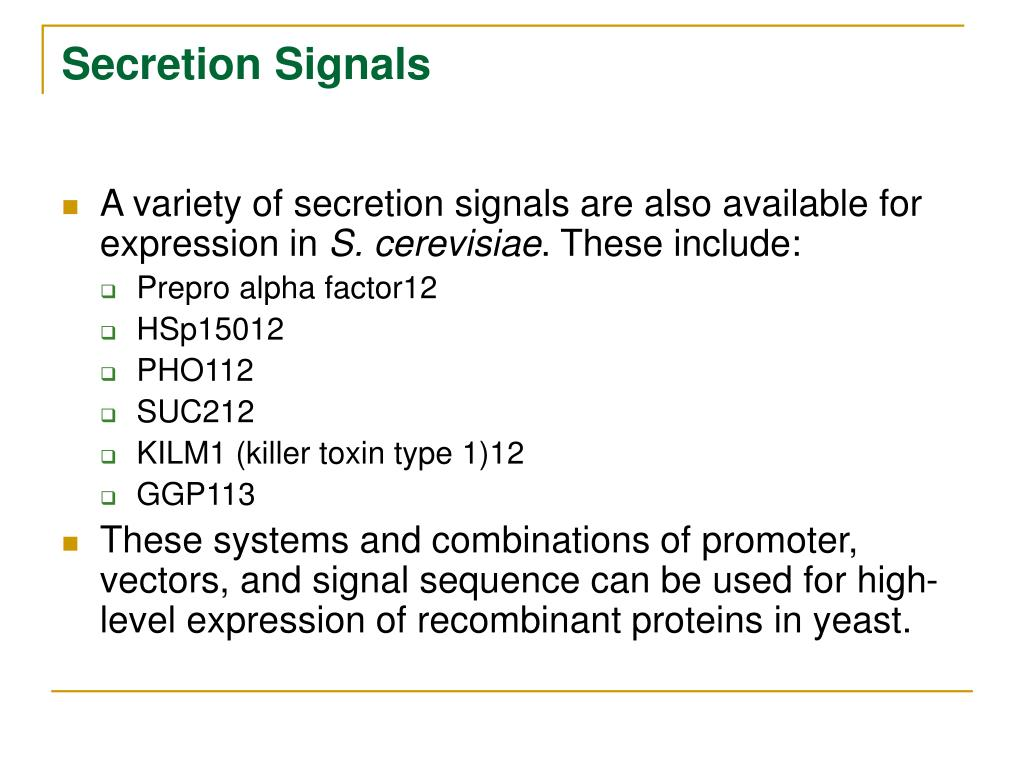 Secretion Signals