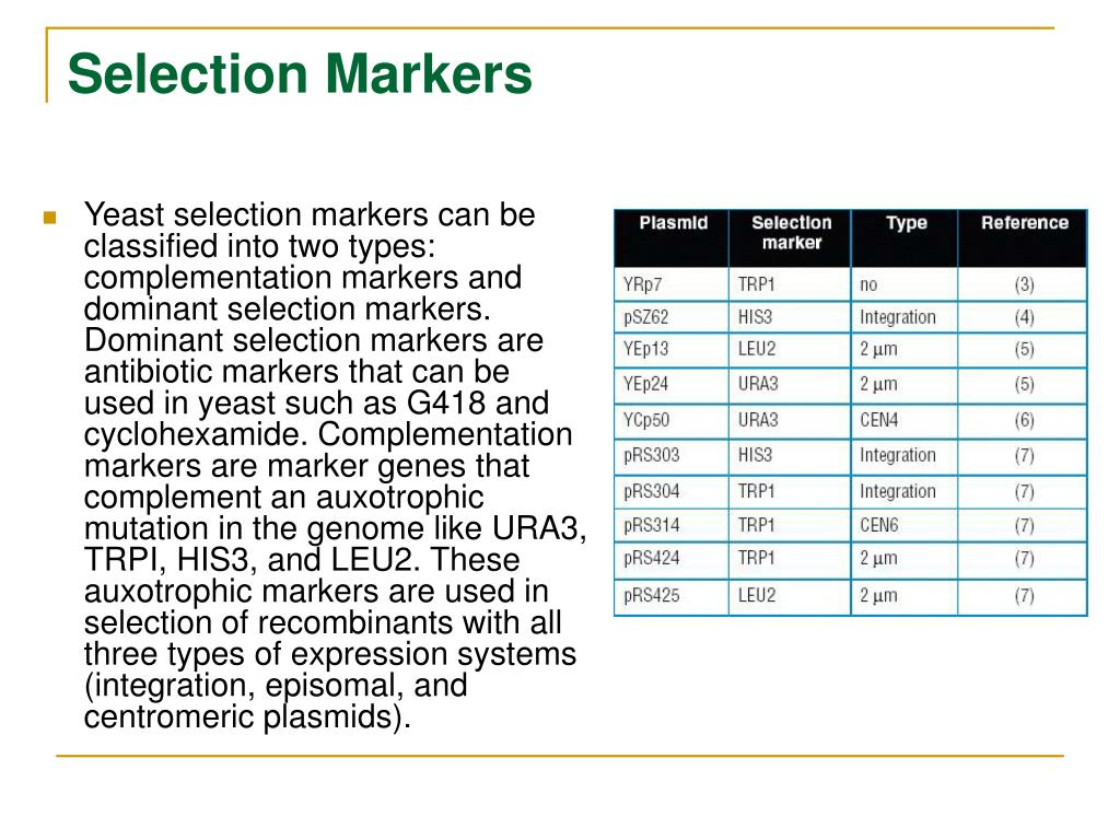 Selection Markers