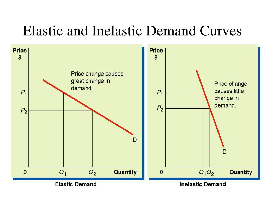Elastic and Inelastic Demand Curves