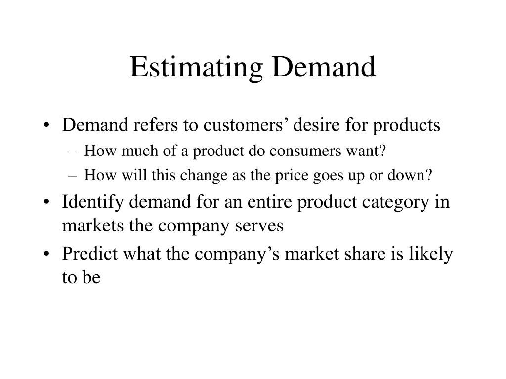 Estimating Demand