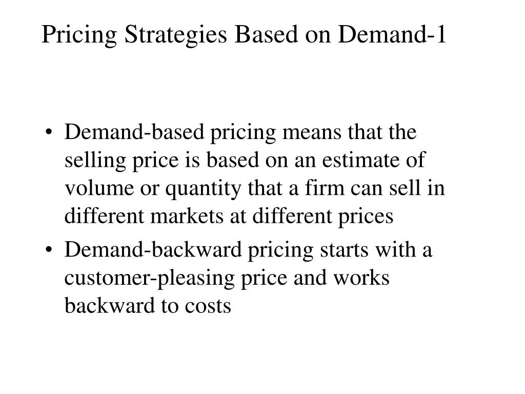 Pricing Strategies Based on Demand-1