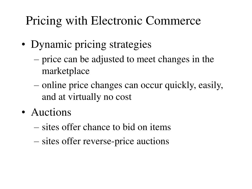 Pricing with Electronic Commerce