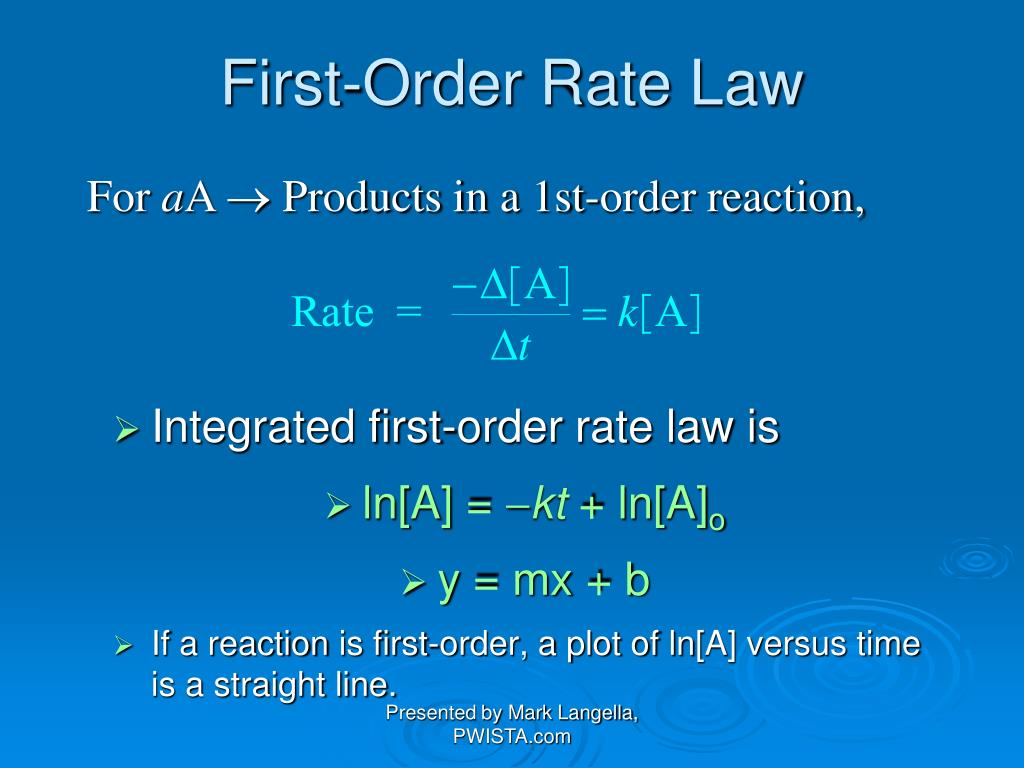 First-Order Rate Law