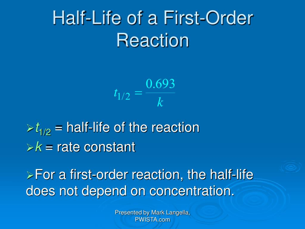 Half-Life of a First-Order Reaction