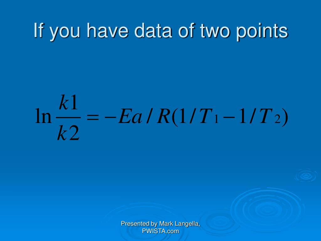 If you have data of two points