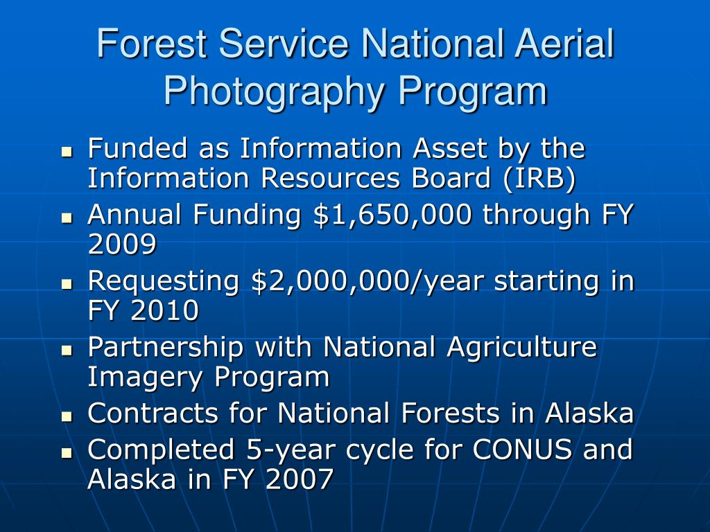 Forest Service National Aerial Photography Program