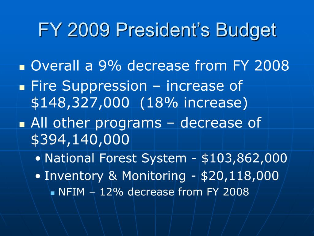 FY 2009 President's Budget