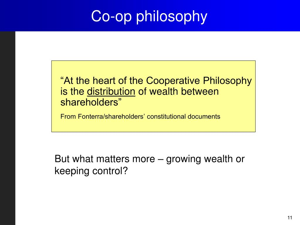 Co-op philosophy