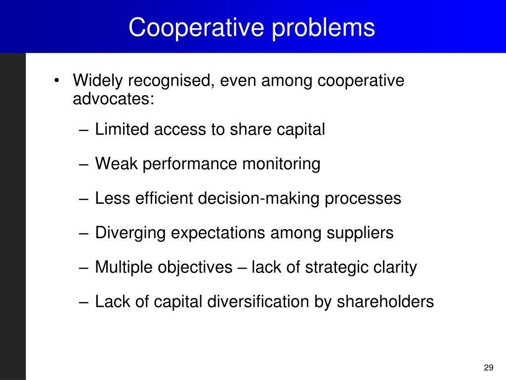 Cooperative problems