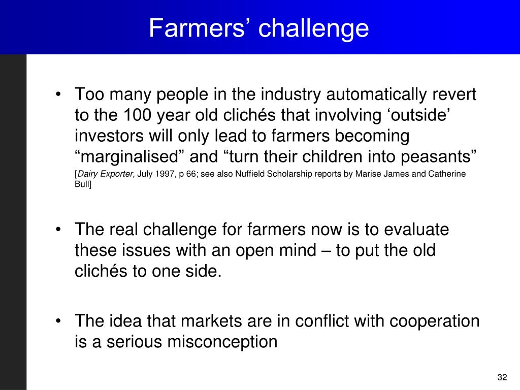 Farmers' challenge