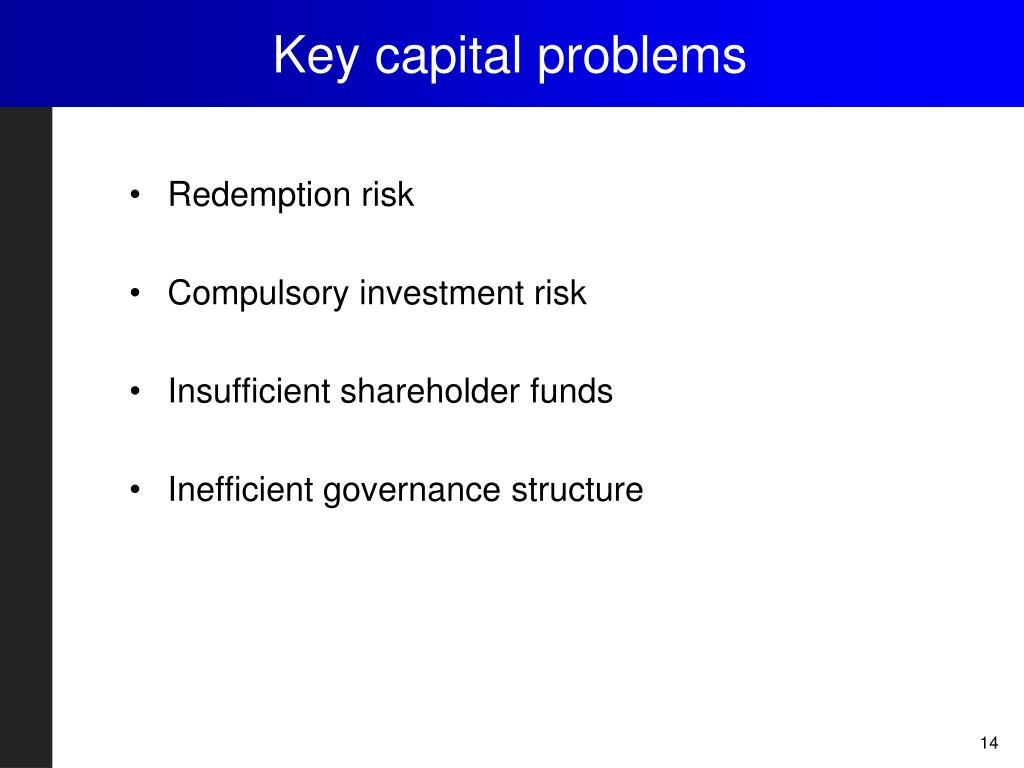 Key capital problems