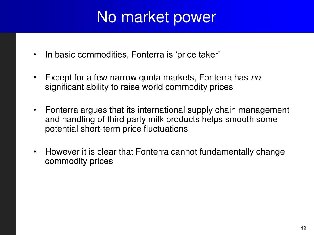 No market power