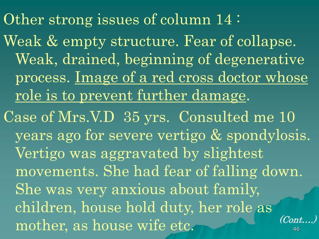 Other strong issues of column 14 :