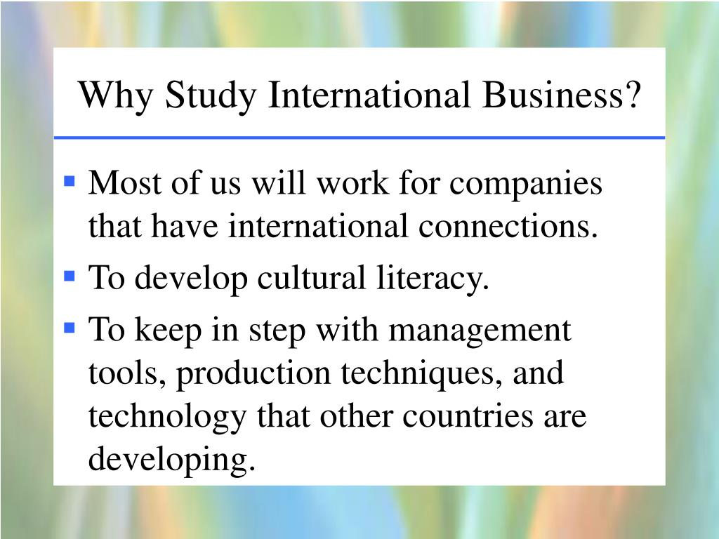 Why Study Business?