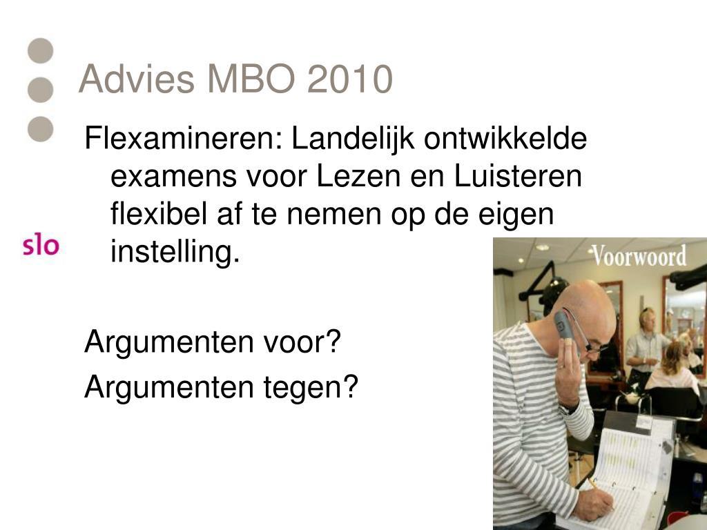 Advies MBO 2010