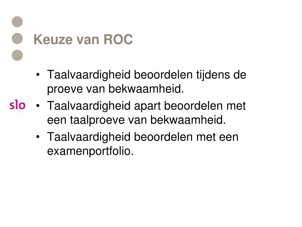 Keuze van ROC