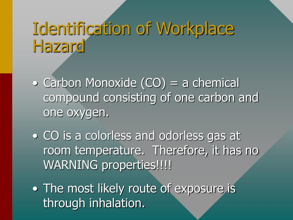 Identification of Workplace Hazard