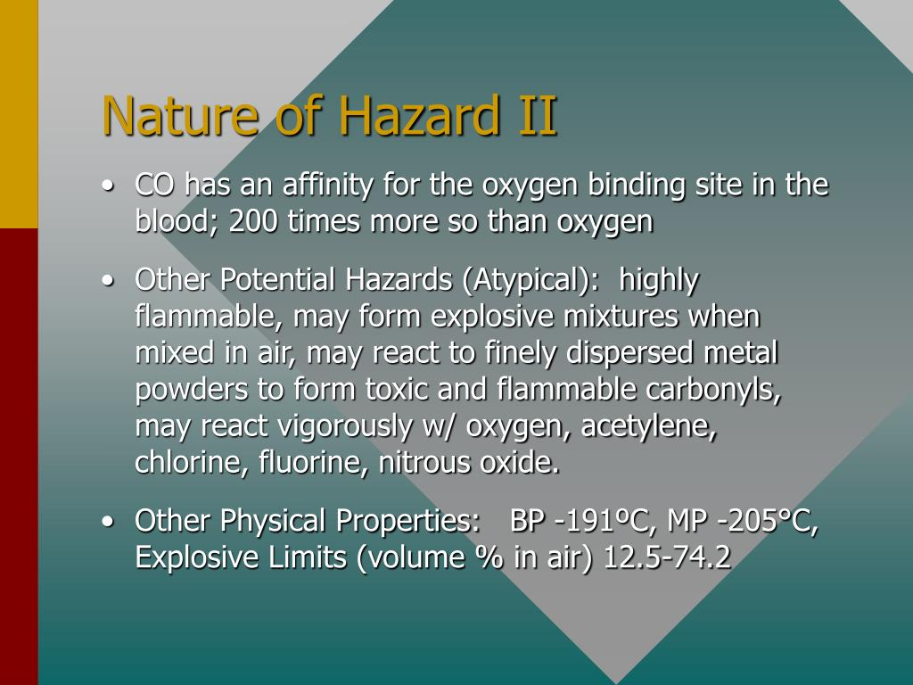 Nature of Hazard II