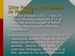 other methods epa outside air methods