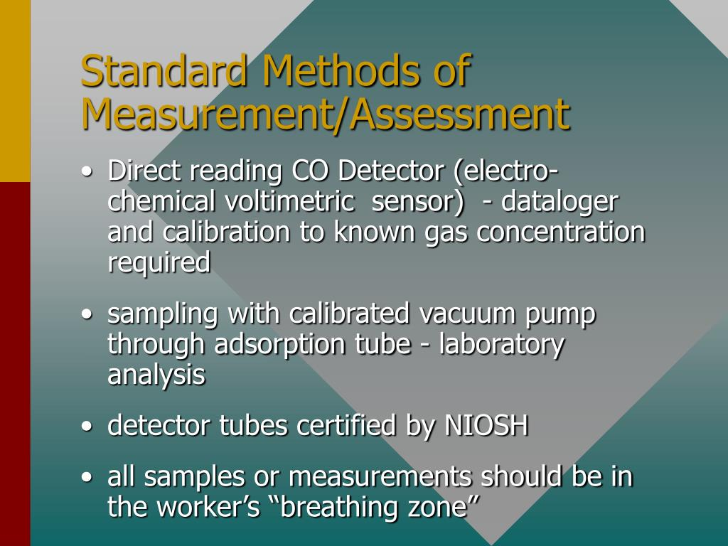 Standard Methods of Measurement/Assessment