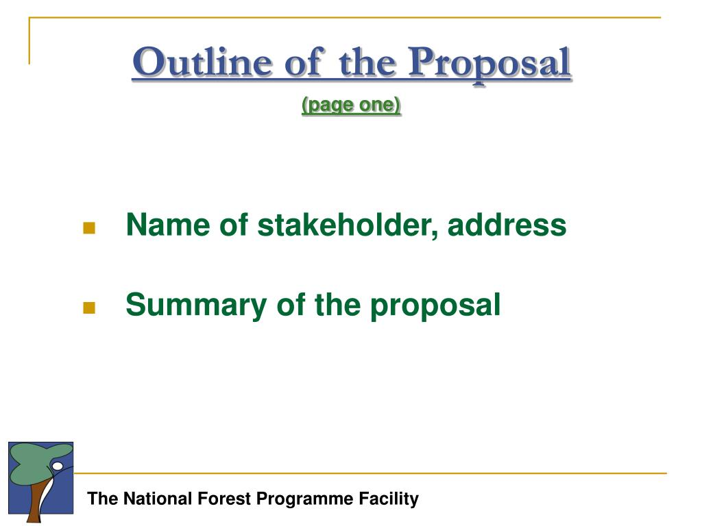 Outline of the Proposal