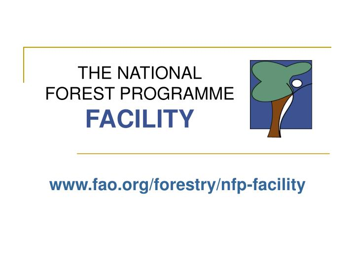 The national forest programme facility l.jpg