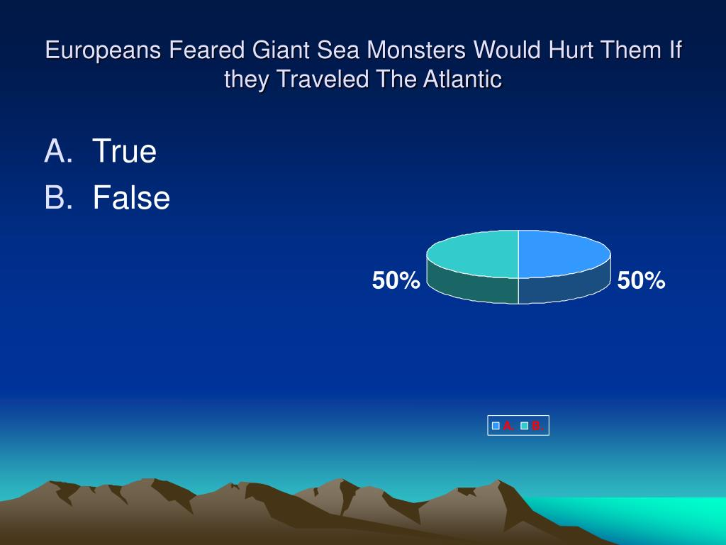 Europeans Feared Giant Sea Monsters Would Hurt Them If they Traveled The Atlantic